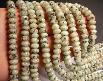 Lotus Jasper - 10mm roundelle - beads -1 full strand - 65 beads - 6x10mm