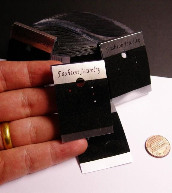 100 pcs silver black velvet earring display card. Black Bedroom Furniture Sets. Home Design Ideas