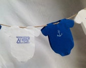 Nautical Baby Shower  Napkins, Set of 20, White and Navy Blue or  White and Pink