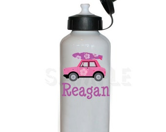 Hot Pink Surf Board Water Bottle Personalized Water Bottle