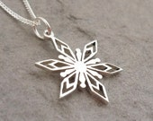 Sterling Silver Hand-cut Snowflake Pendant 1