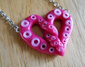 CLEARANCE 50% OFF Tentacle Heart Necklace