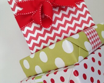 Red Chevron Premium Wrapping Paper