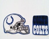 Indianapolis Colts iron on appliqué set