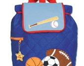 Personalized quilted Stephen Joseph Backpack - Sports