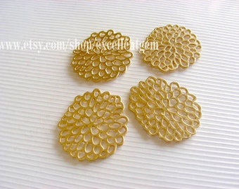 Matt Gold-plated Fashion earring charms High quality findings, HBYG-0013