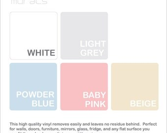 Dry Erase COLOR SAMPLES - Erasable wall decal sample by Decals Murals