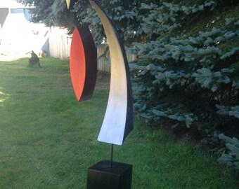 Metal art Free standing home decor garden Sculpture by Holly Lentz