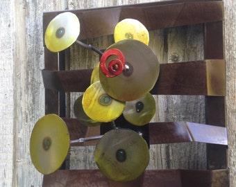 Metal Wall art metal sculpture home decor by Holly Lentz