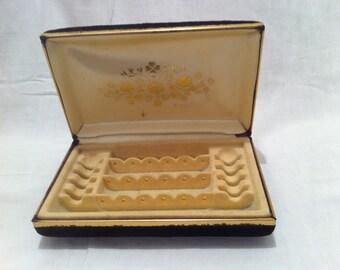Vintage Small Black Jewelry Box
