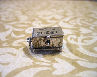 Vintage Danecraft Sterling Silver HOPE CHEST Charm Opens