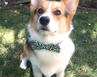 Dog cat bow tie Collar -Japanese Kimono Karakusa- Japanese dog collar, Japanese bow tie, Kimono bow tie collar, Kimono dog UsagiTeam