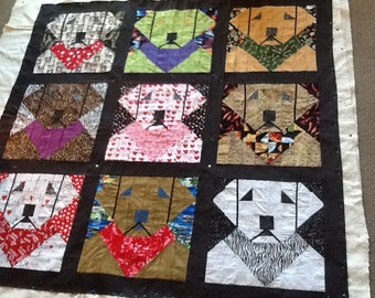 LABRADOR MEMORIAL QUILT   Quilt/Wall Hanging - Pattern Only..  in memory of Maiden....