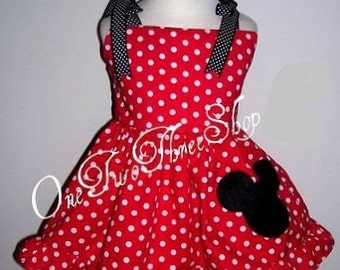 Custom Boutique Minnie Mouse Jumper Top and Bloomers Set 12 Months to 3 Years