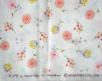 Posy Aneela Hoey Bouquet white moda fabric FQ or more