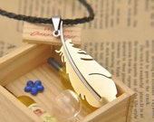 Chocobo Feather Pendant - Final Fantasy Inspired - Choose Color! (Blue, Black, Gold, Silver) featured image