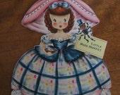 UNUSED Vintage Hallmark Collectible Doll Card  Circa 1947 - Little Miss Muffet No. 6