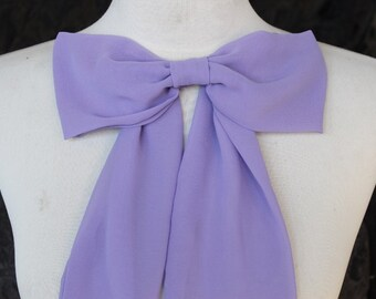 Cute chiffon bow lavender   color
