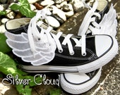 Silver Cloud Shoe Wings - for YouR SupeR HerO  )( Get your SHOE Shinez ON! )(