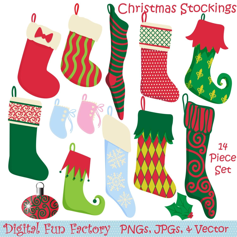 Christmas Stockings Clipart Free Il Fullxfull Jocq