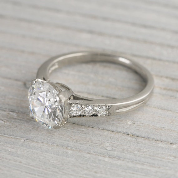 Items similar to 1 78 Carat Vintage Tiffany & Co Engagement Ring on Etsy