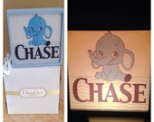 Personalized and custom light table top night light.
