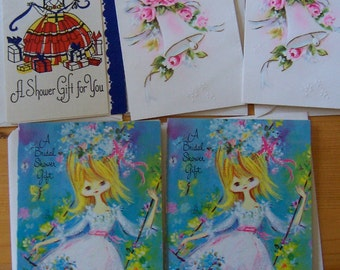 bridal shower cards from the 60's