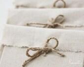 CD packaging - 5 linen fabric envelopes - natural linen CD envelopes-client packaging,