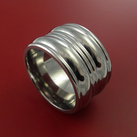 Titanium Extra Wide Wedding Band Fashion Ring Made to Any Sizing 3 to 22