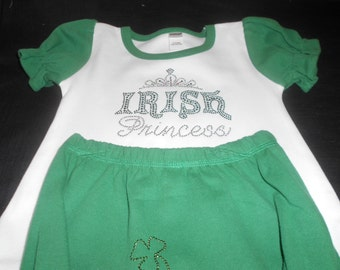 Irish Princess 2 pc Green & White Outfit