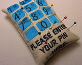 Enter Your Pin Pincushion Machine Embroidery Design