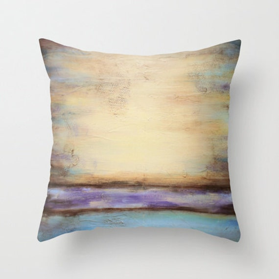 Decorative Pillows Beach Theme : Beach Theme Decor Pastel Pillow Decorative Throw by LizMosLoft