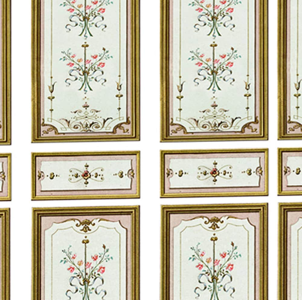 Victorian Wall Panels Wallpaper 1 12th Or 1 24th Scale 02