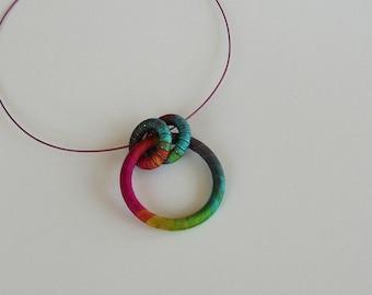 Eyeglasses Holder or...Simple Textile Necklace Coleus
