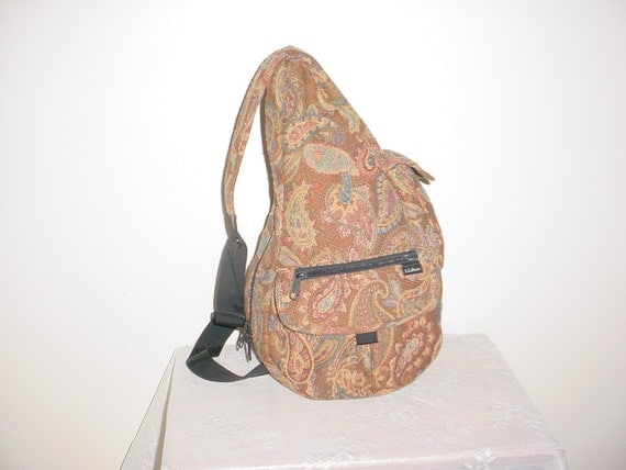 Ll bean ameribag healthy back tapestry bag by lovegems on etsy
