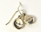 LP 1047 Sterling Silver Charm Spirit Nugget Earrings