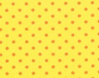 Bloomin' Fresh Remnant 3/4 yard - Moda Quilting Fabric by Deb Strain - Sunshine Yellow Dot