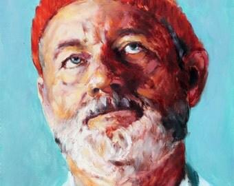 Steve Zissou, Print from Original Painting