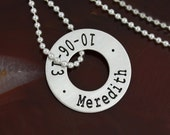 Floating Eternity Circle Necklace - Small
