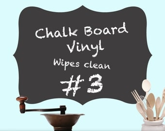 Chalkboard Decal, Curvy Shape Vinyl Wall Decal 03: Kitchen Wall Decal Decor, Chalk Board, Kitchen Decor, Kids Playroom Decor