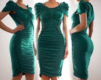 Puffy Sleeve Gathered Dress