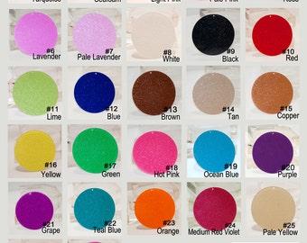 "U Pick 20 - Acrylic 15/16 "" Circle Disc- Glitter 27Colors - DIY Craft Ornaments Bag Tag Vinyl Application Monogram Personalization"