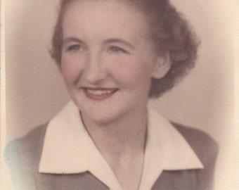 Smiling Lady - Vintage Photograph, Vernacular, Found Photo (DDD)