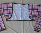 BOLERO - Cycling Bolero / Shrug- Pink Plaid Print