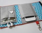 Nerd Herder gadget wallet in Bot Dot for iPhone 5, Android, iPod, iPhone 6+, digital camera, smartphone, guitar picks