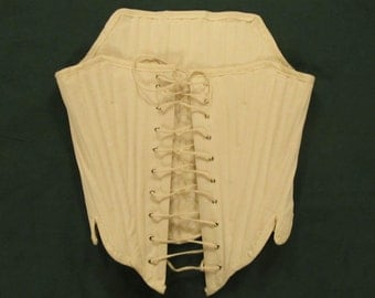Colonial Stays with Grommets  - Bust 32 inches, Waist 27 inches - Laces in the front - Fully boned with reed