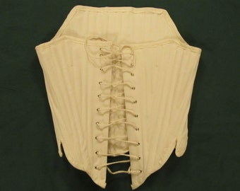 Colonial Stays with Grommets  - Bust 34 inches, Waist 29 inches - Laces in the front - Fully boned with reed