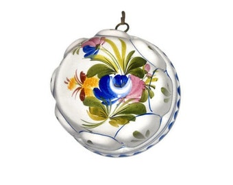 Ceramic Decorative Hand Painted  Jelly Mould from Italy