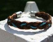 Horse Hair Bracelet with Seed Beads
