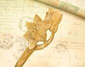 Verawood Hair Stick - Magnolia Flower